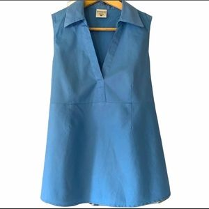 Sleeveless Top with Tie Blue Maternity Blouse